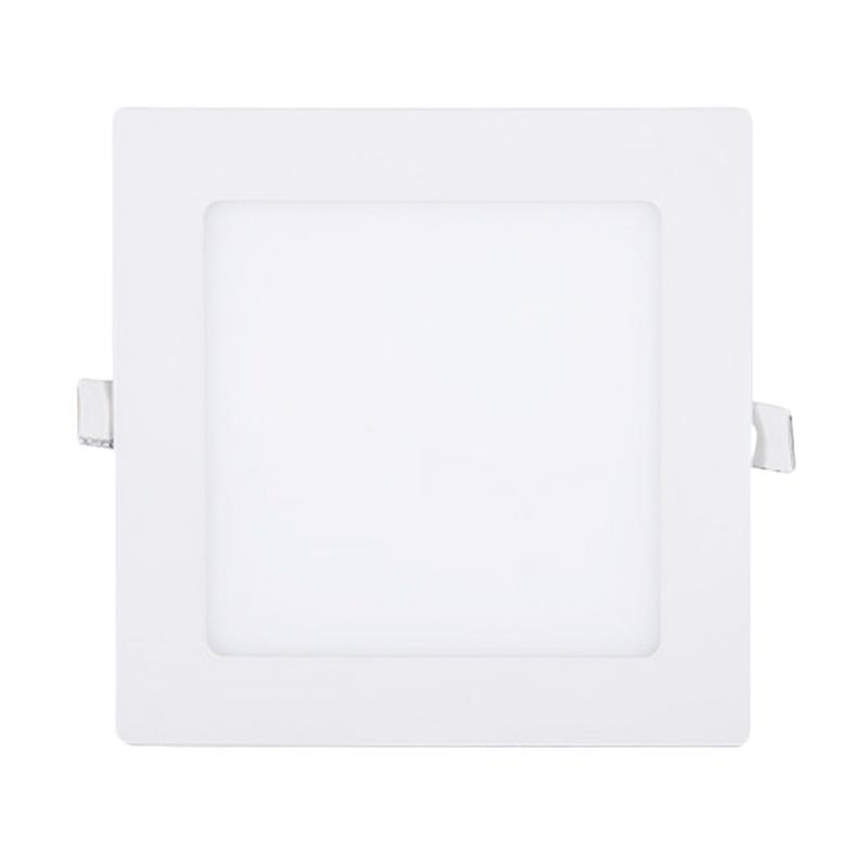 LED Downlight Panel 9W Round Lampu - Square Warm White