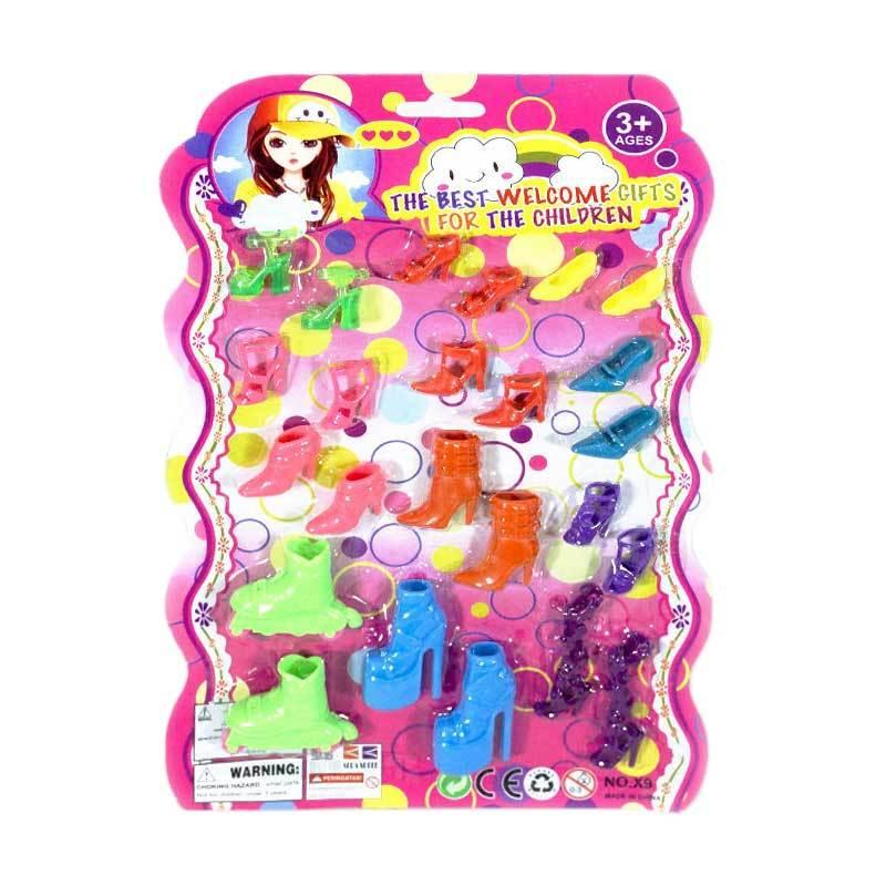 harga TSH Set Sepatu Boneka Barbie Mainan Anak - Multi Colour [12 pcs] Blibli.com