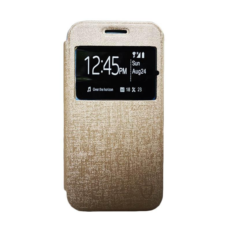 ZAGBOX Flip Cover Casing for Samsung Galaxy A3 - Gold