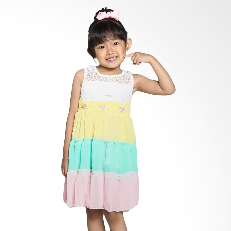 4 You Multicolour Sleeveless Flower Dress - Pink