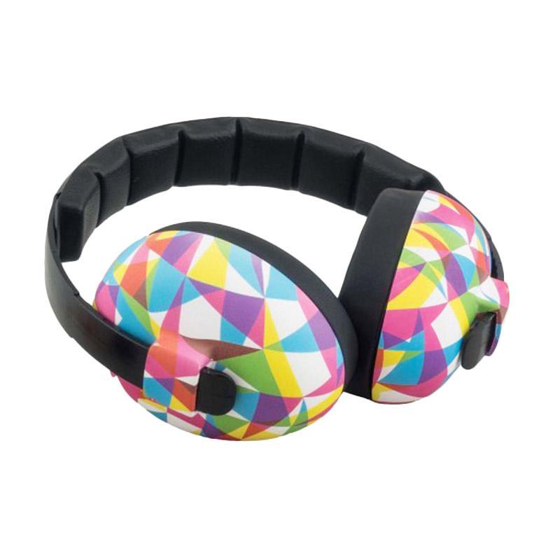 Baby Banz Earmuff Mini Baby Geo Pelindung Telinga Bayi - Pink Colourful [0-2 Years]