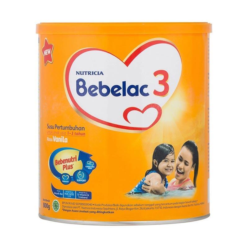 Bebelac 3 Bebenutri Plus Susu Pertumbuhan Vanilla [800 g]