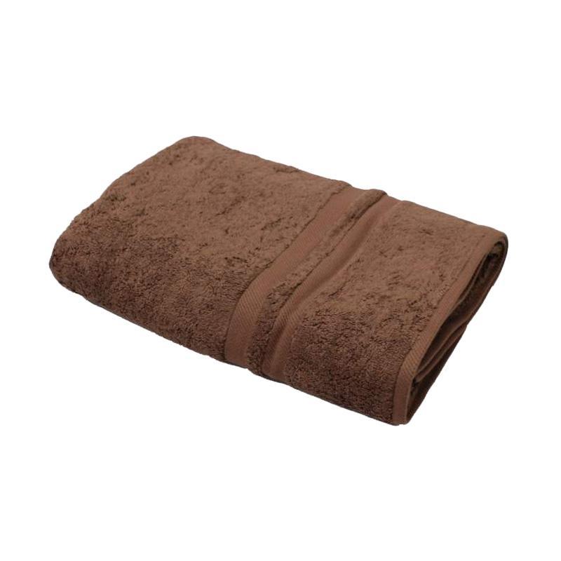 Chalmer Natural Handuk Mandi Polos - Coklat Tua [70 x 140 cm]