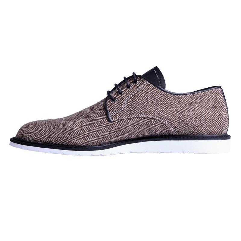 Ftale Footwear Shawn Mens Shoes - Herringbone Brown