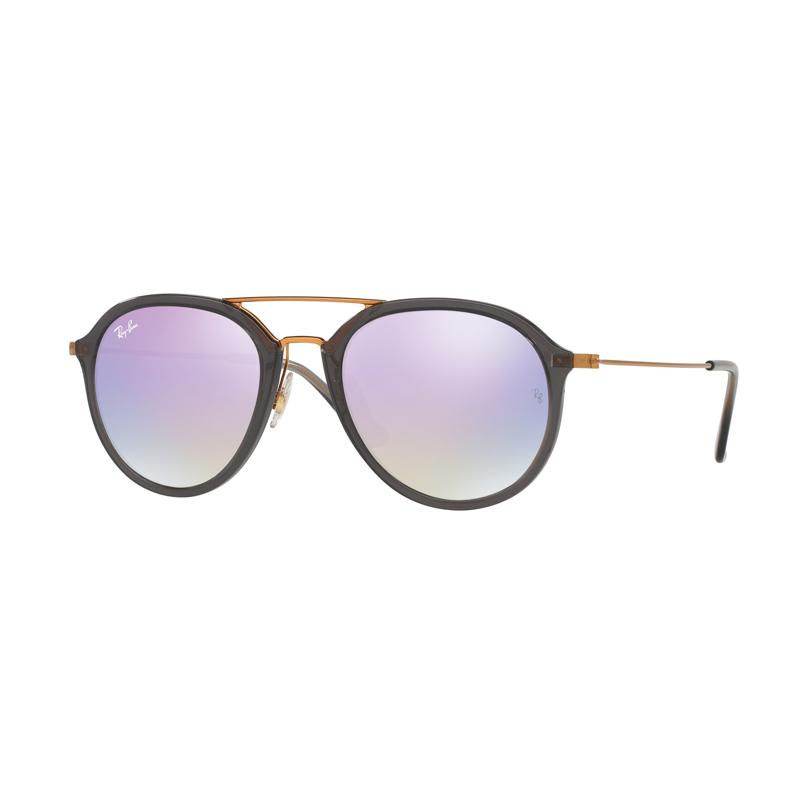 Ray-Ban Rb4253-62377X Sunglass - Shiny Grey Lilac Flash Gradient [Size 53]