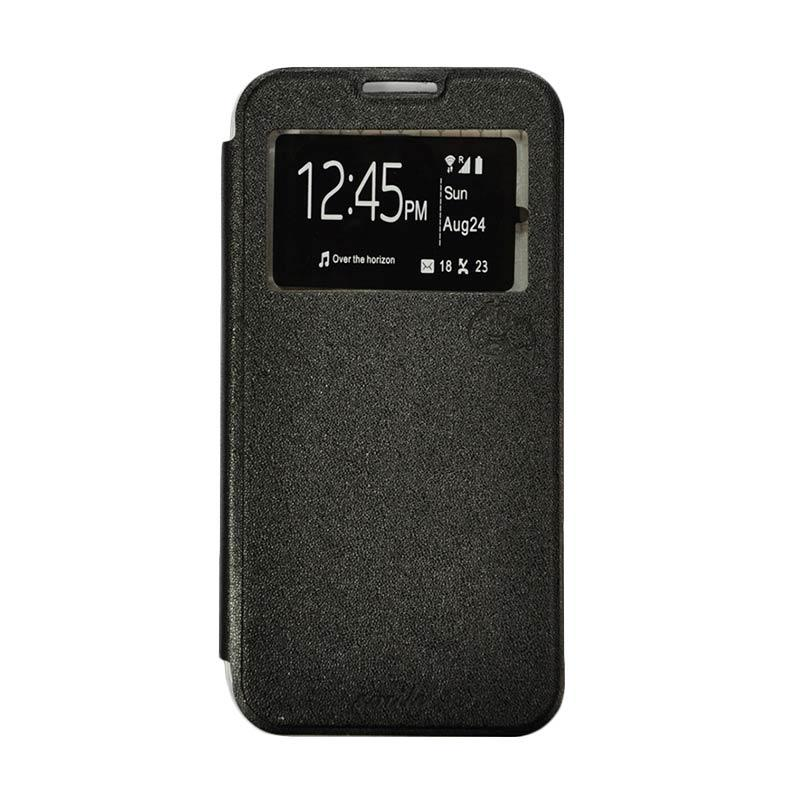 Smile Flip Cover Casing for Asus Zenfone C or 4C - Hitam