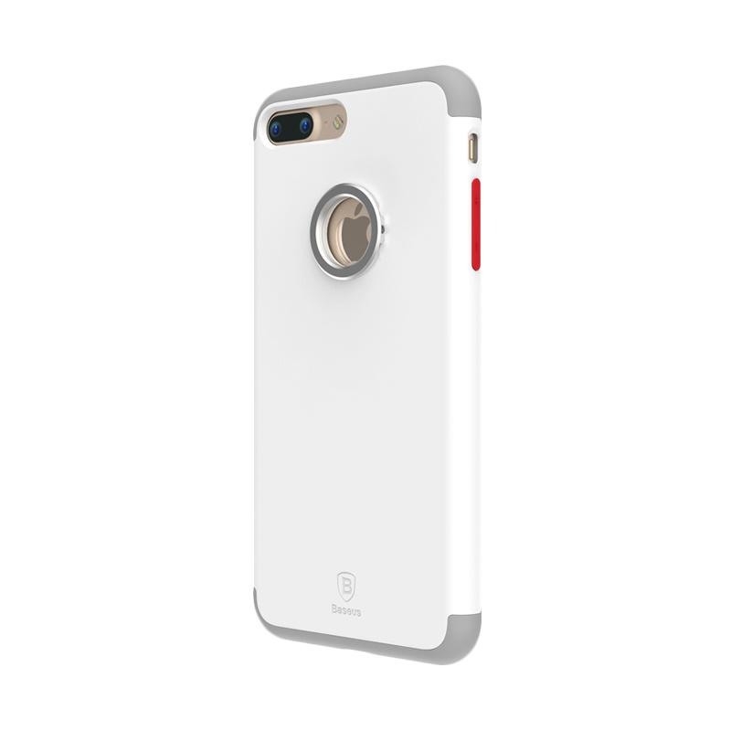Baseus Magnetic Ring Casing for iPhone 7 Plus - White