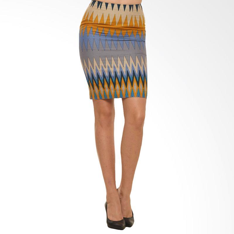 Bateeq Fl15-008C Printed Regular Rang Rang Skirt - Yellow