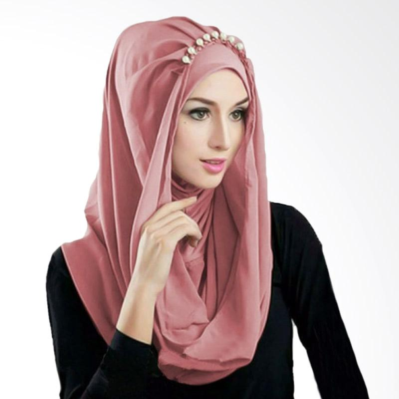 Kus Group Hijab Deeja Pearly Bergo - Dusty Pink