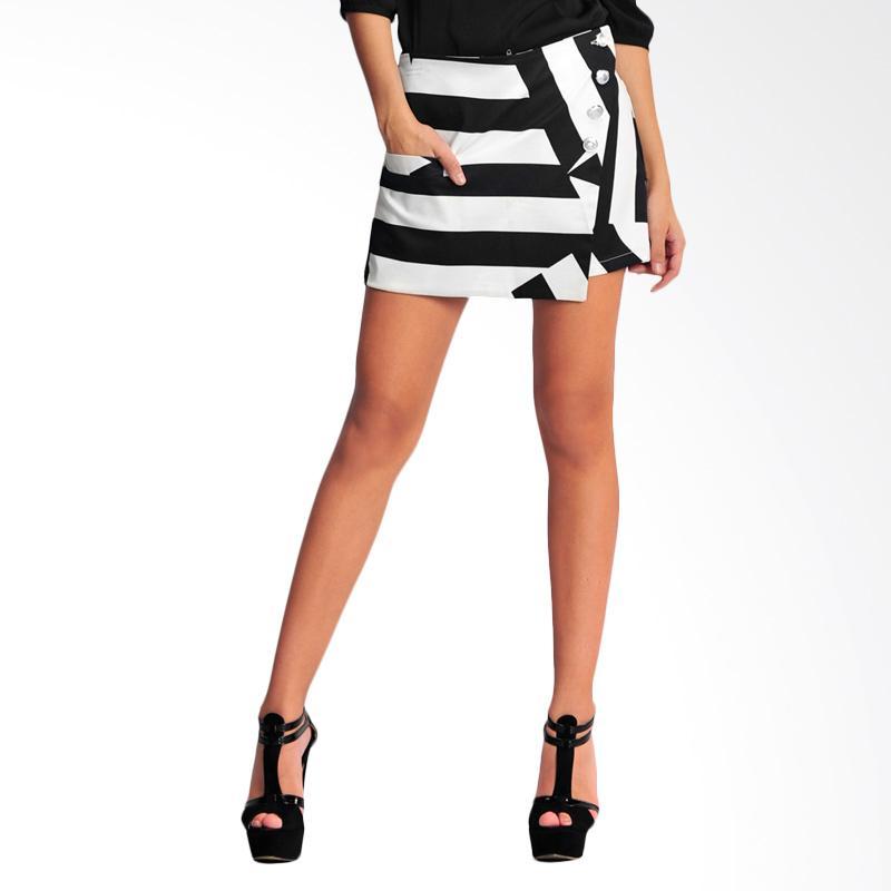 SJO & SIMPAPLY Stripe Edition Women's Short - Black White