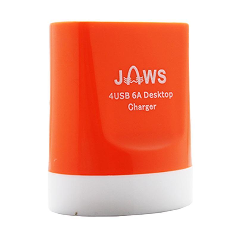 Jaws Fast Charging Desktop Charger - Orange [4 USB/6.0 Ampere]
