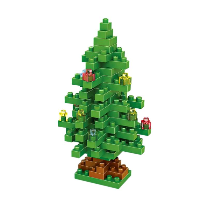 Loz Gift Christmas Tree 9123 Mainan Blok dan Puzzle [Medium]