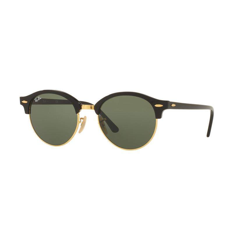 Ray-Ban RB4246-901 Clubround Sunglasses - Black Green [Size 51]