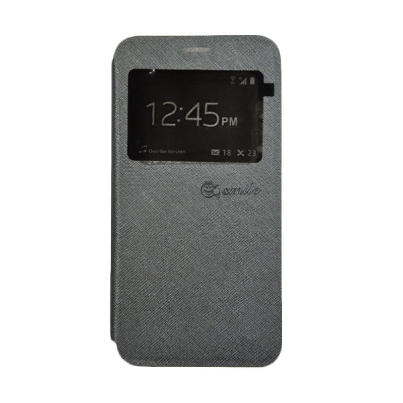 SMILE Standing Flip Cover Casing for Xiaomi Mi 5 - Grey