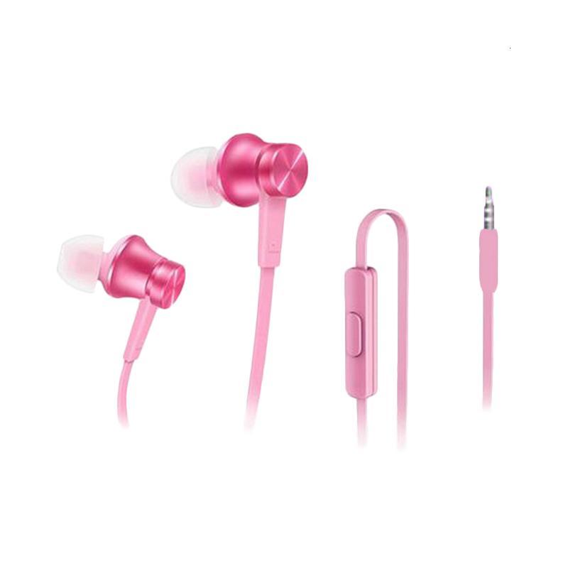 Original 100% Xiaomi Piston In Ear 3rd Generation Edition Handsfree Headset Earphone - Pink
