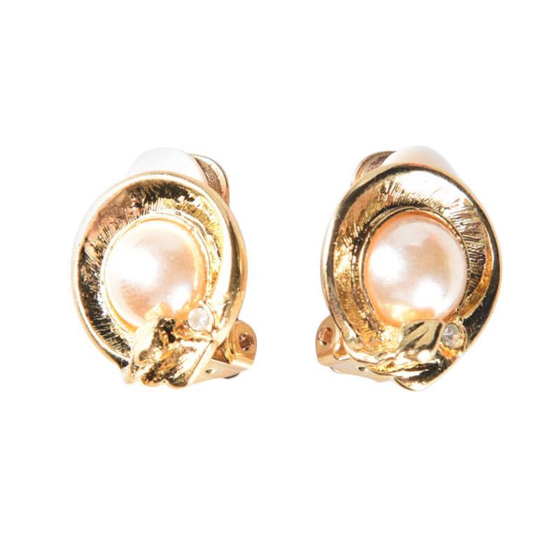 1901 Jewelry GW.4750.HR52 Melva Clip Earrings Giwang - Gold