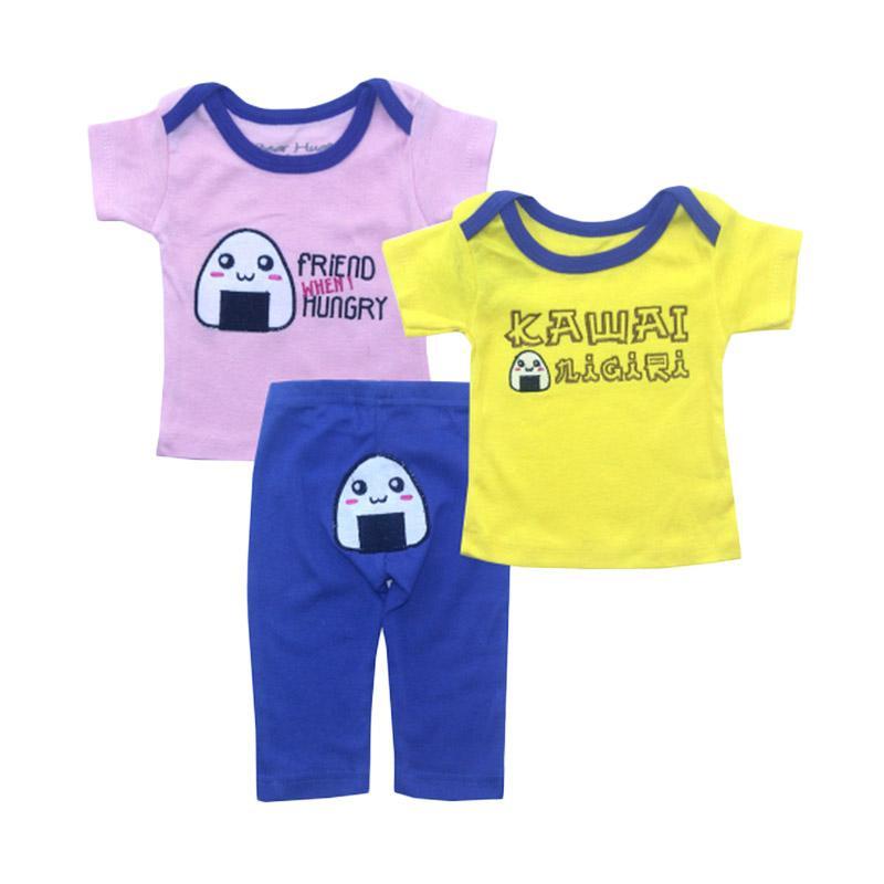 Bearhug Kawai Set Pakaian Bayi Perempuan - Kuning [3 pcs]