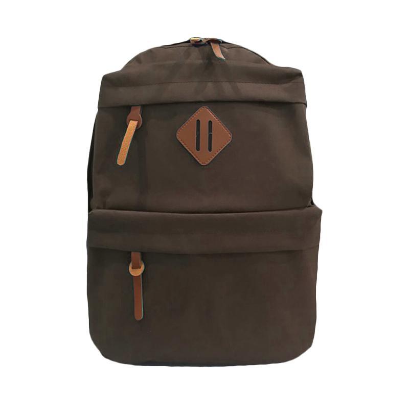 Bag & Stuff Korean Universal Tas Ransel - Coklat