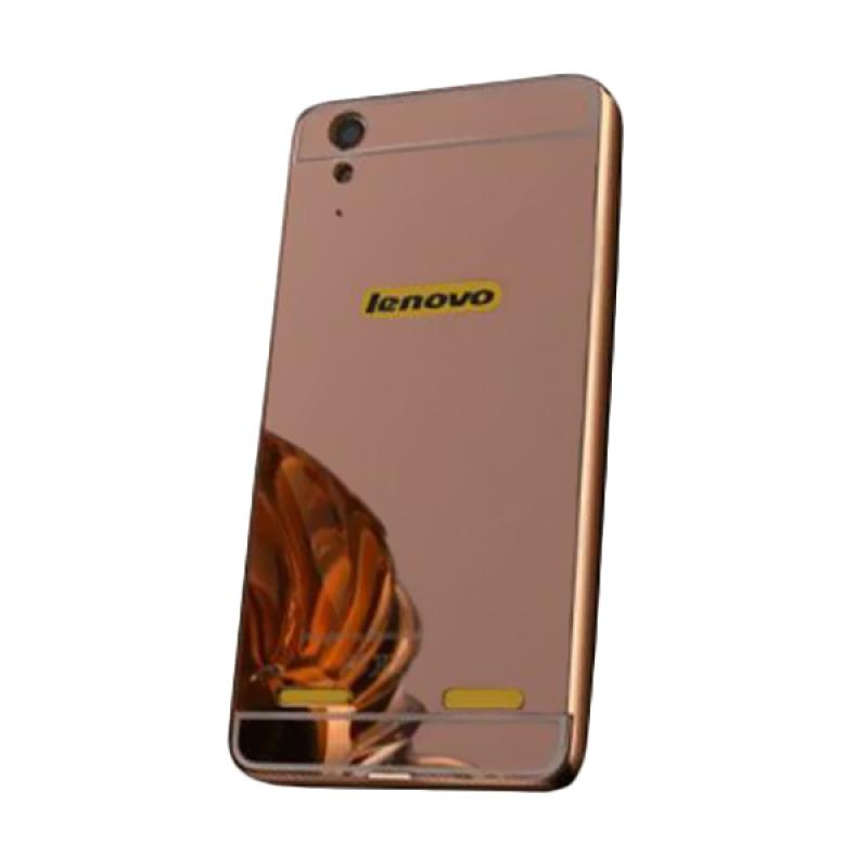 info for d9cc0 bea9d Bumper Case Mirror Sliding Casing for Lenovo A6000 - Rose Gold