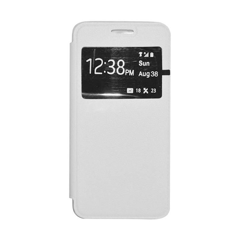OEM Leather Book Cover Casing for Sony Xperia T3 - White