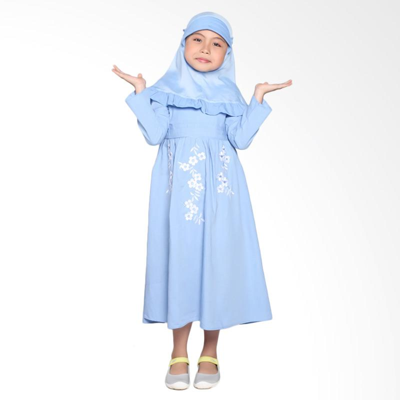 Pretty Girl 3Breeze Dress Muslim Anak - Blue