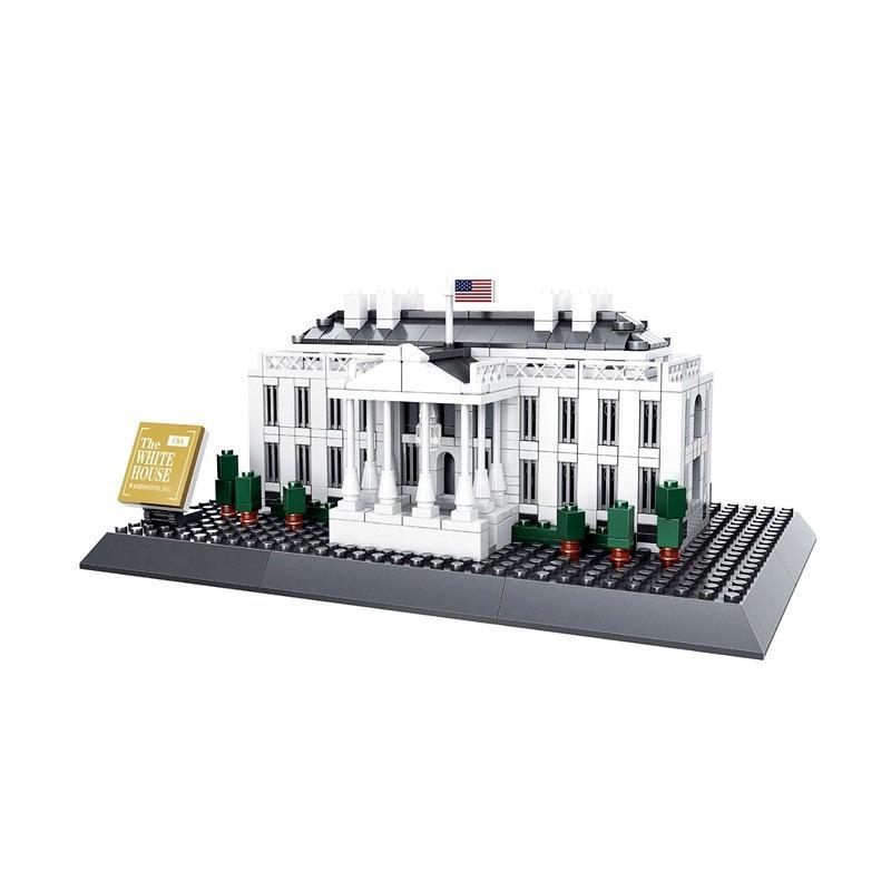 Wange 7018 White House Washington Mainan Blok & Puzzle