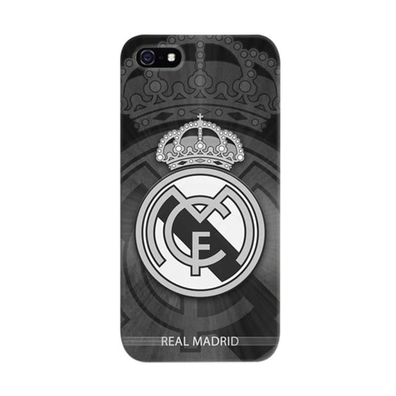 Indocustomcase Real Madrid Logo 10 Cover Casing for iPhone 5/5S/SE
