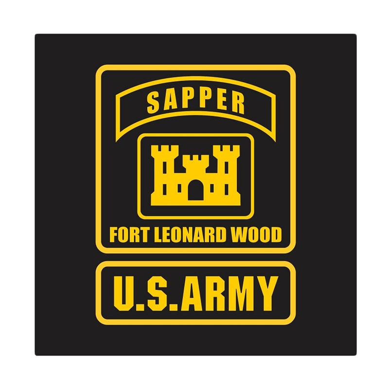 US Army Sapper Fort Leonard Wood Cutting Sticker