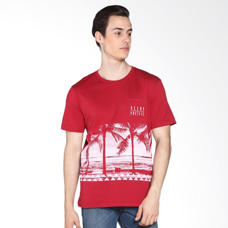 Ocean Pacific 03MTY07774 Young Mens Tshirt - Maroon