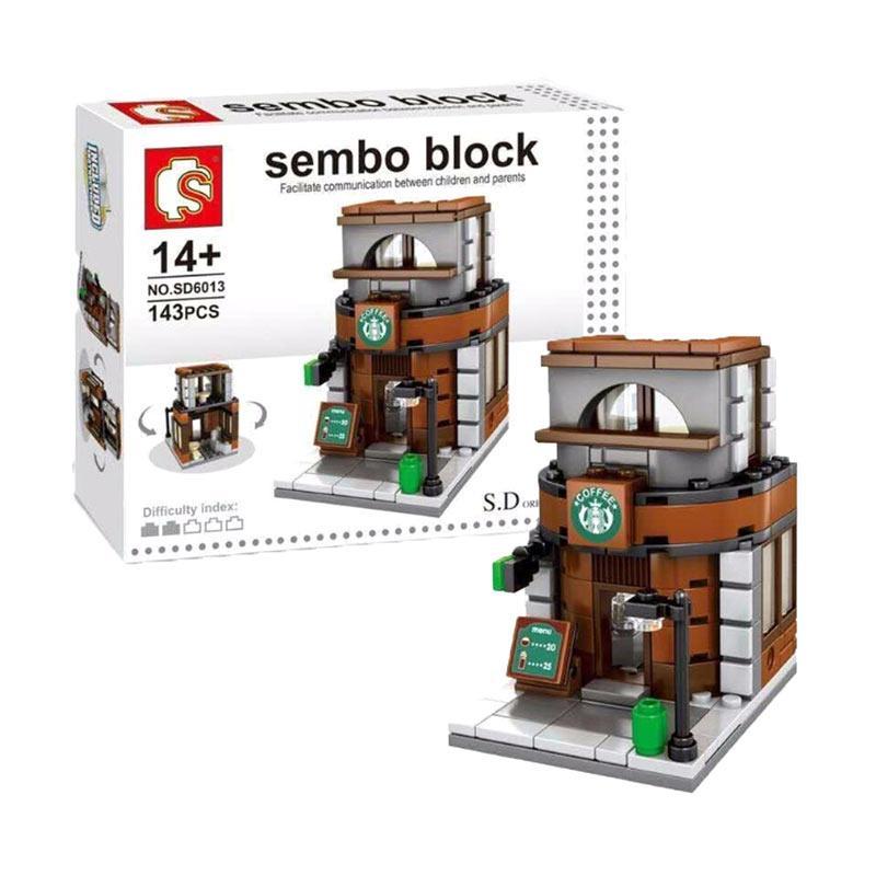 Sembo SD6013 Block Coffee Shop Store Mainan Blok & Puzzle