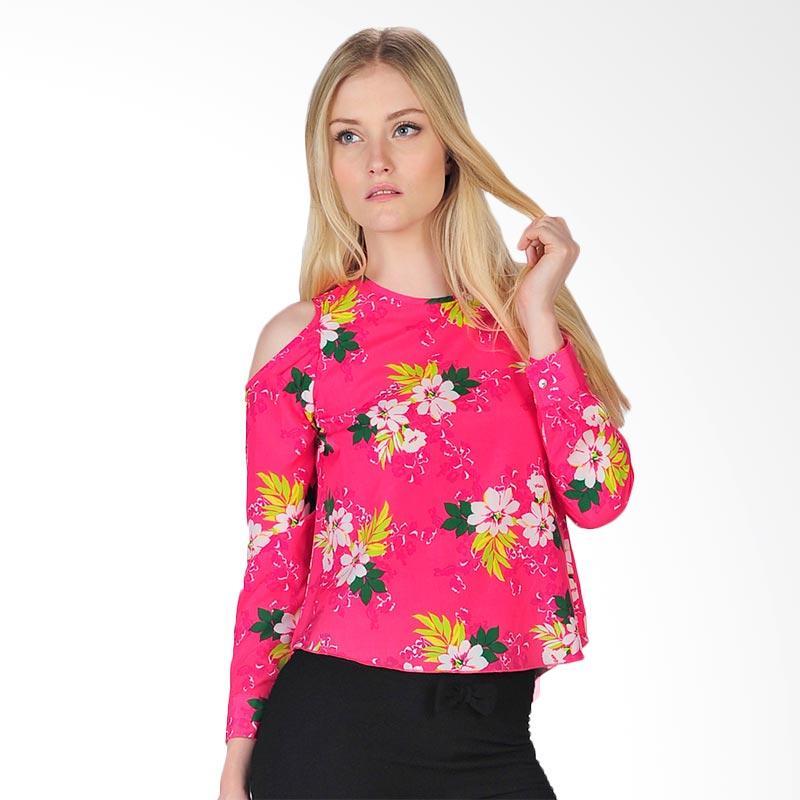 SJO's Palermo Women's Blouse - Pink Flower