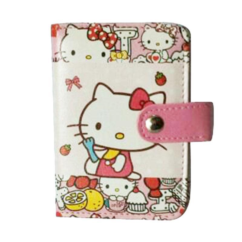 Hello Kitty HK Eat Dompet Kartu - Putih Pink
