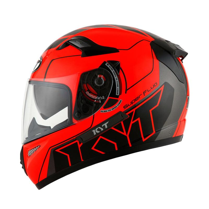 harga KYT-K2 Rider Super Fluo Edt #1Helm Full Face - Red Fluo Black Blibli.com