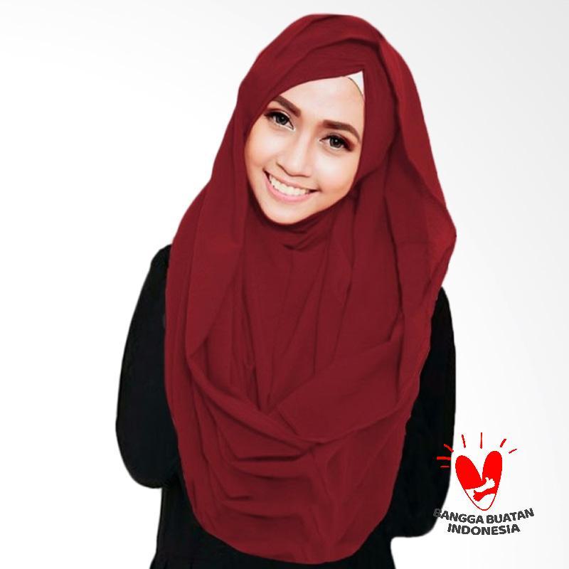 Milyarda Hijab Shiren Kerut Jilbab Instant - Maroon