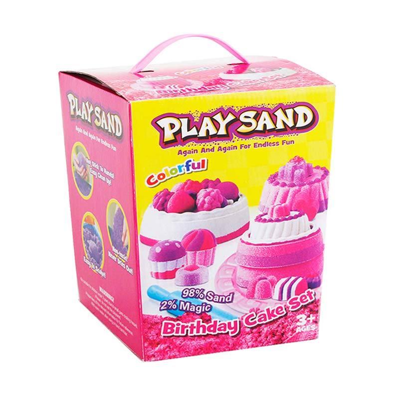 Momo Play Sand Birthday Cake Set 3608A Mainan Anak - Multicolour
