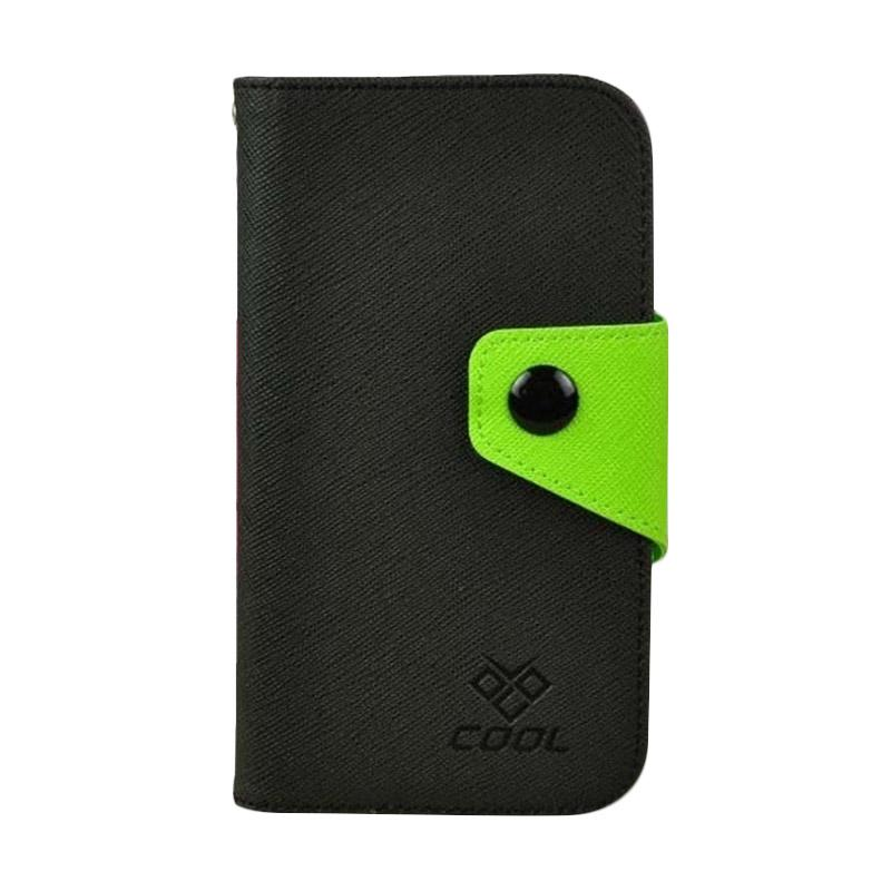 OEM Rainbow Flip Cover Casing for Huawei Ascend Y3C - Hitam