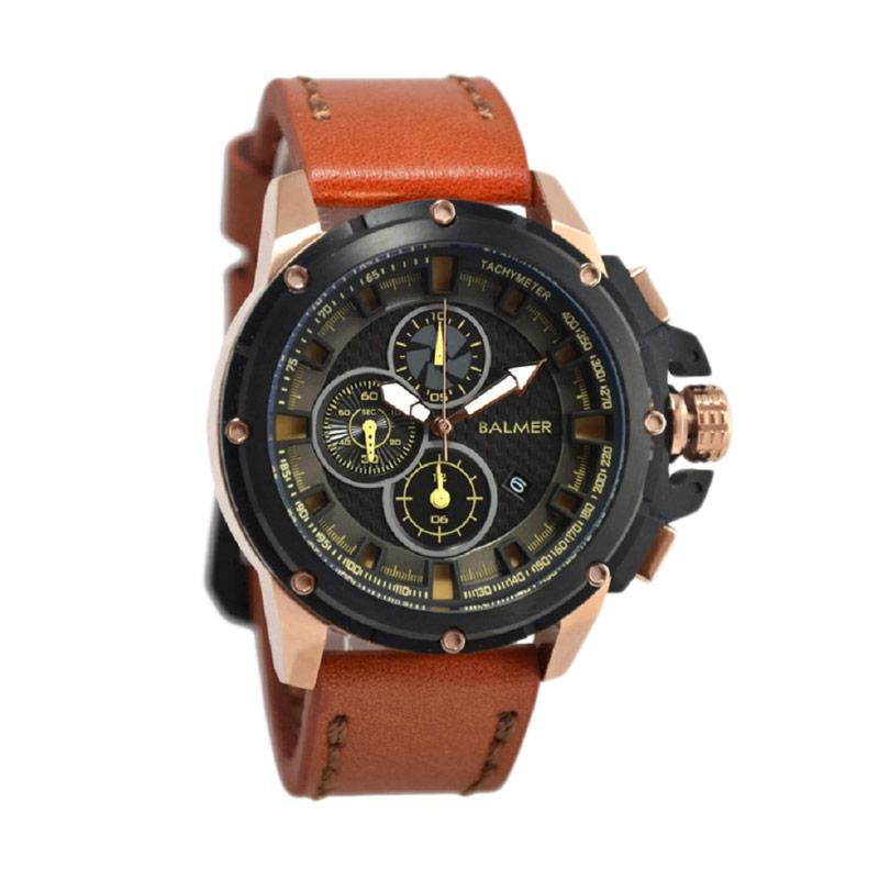 Balmer B.7905MR Jam Tangan Pria - Light Brown Black Rosegold