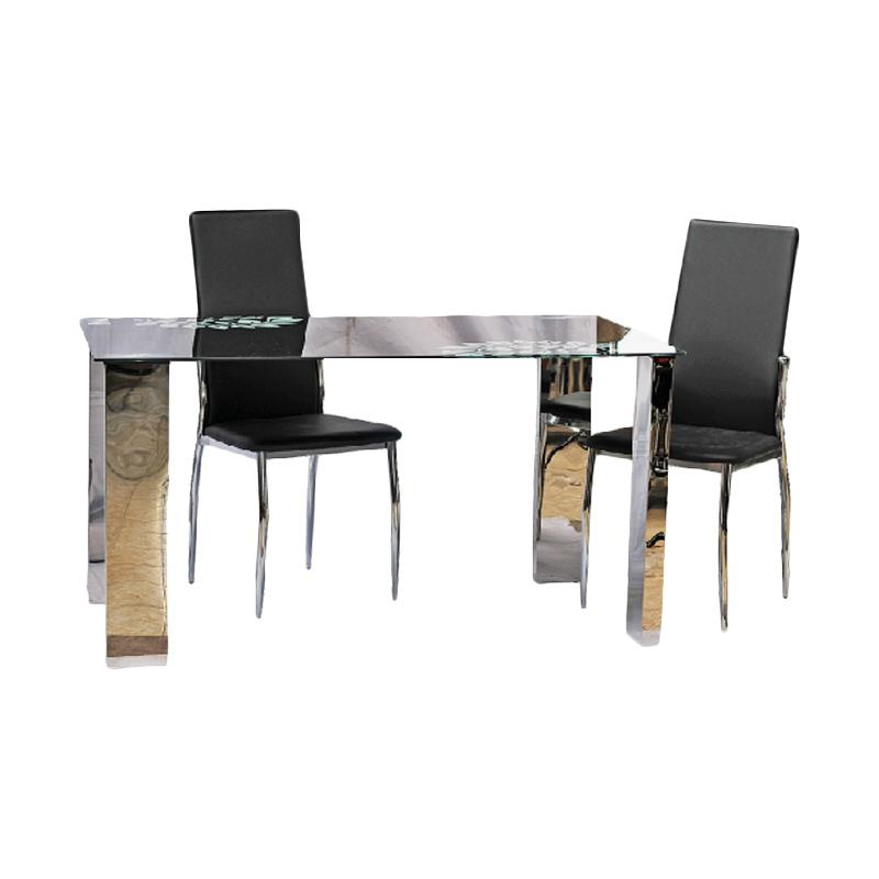 Best Furniture IMP-DS403 Meja Makan Minimalis - Black [140x80 cm]