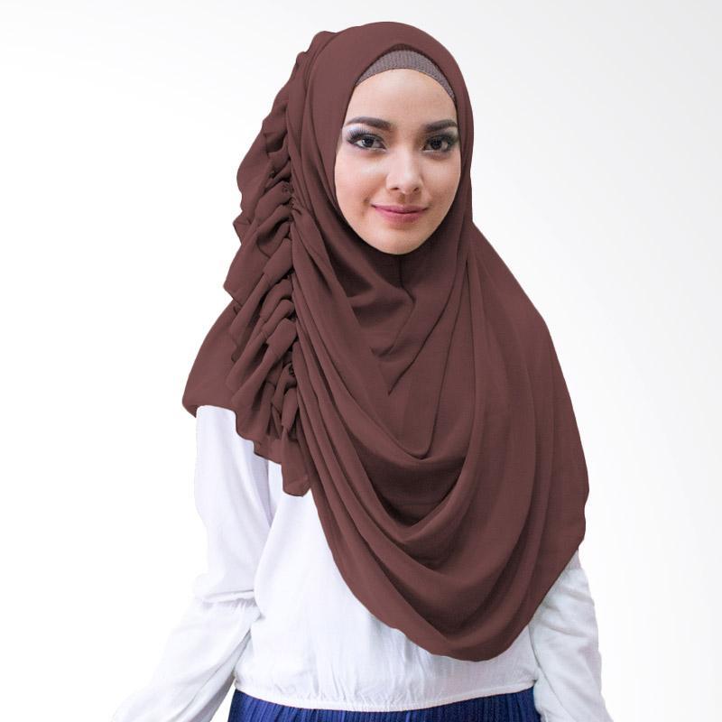 Milyarda Hijab Ravika Kerudung Instan - Coklat