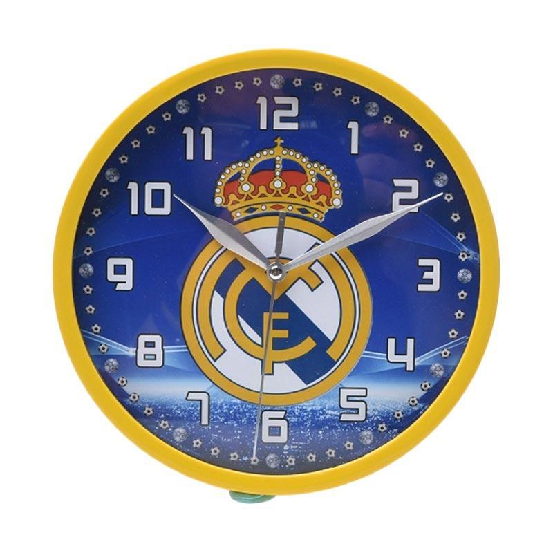 Miracle Club Bola Real Madrid Ring Jam Dinding - Kuning [20 cm]