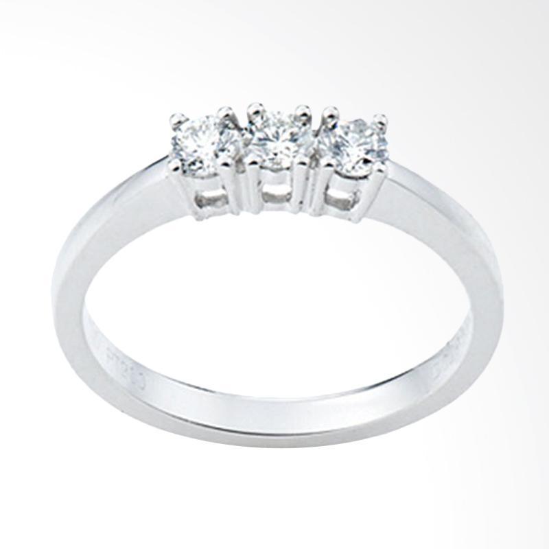 Tiaria Princes 3 Diamond Cincin Tunangan Berlian Emas 18K