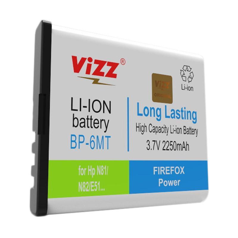 harga Vizz Double Power BP-6MT Battery for Nokia N81/N82/E51 [2250 mAh] Blibli.com