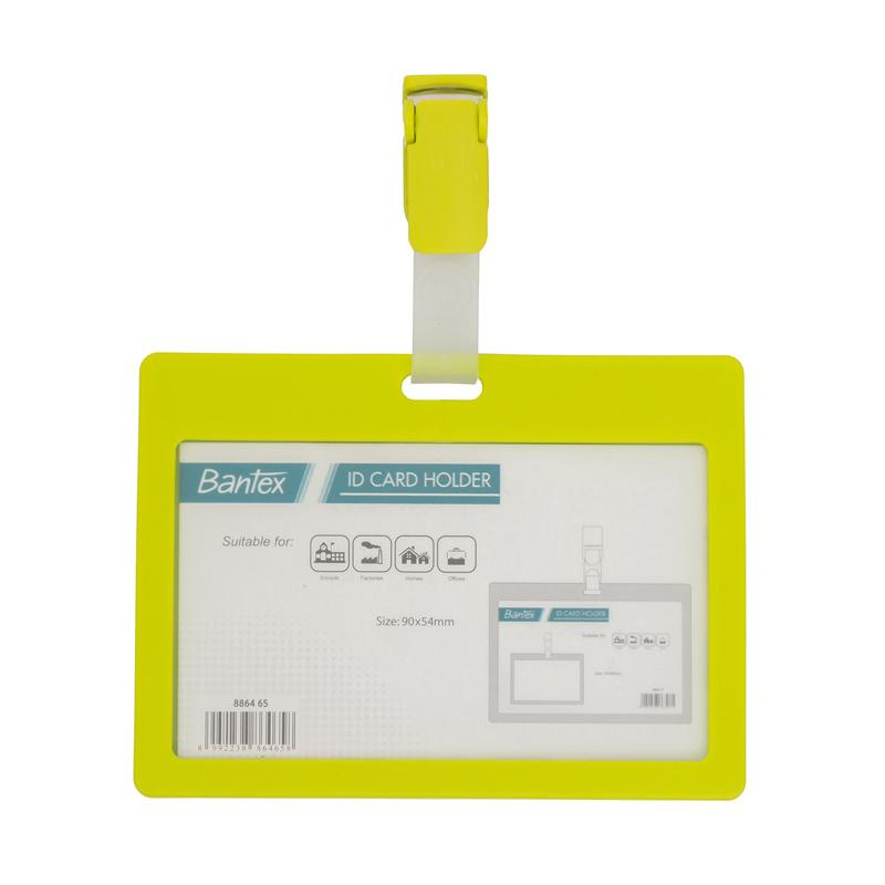harga Bantex #8864 65 Landscape ID Card Holder with Clip - Lime [90 x 54 mm] [2 PCS] Blibli.com