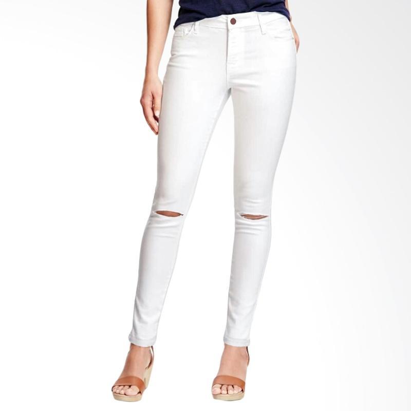Underpego Jeans 2 Cut Celana Pnajang Wanita - Putih