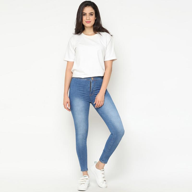 MS JEANS High Waist Jeans Celana Wanita