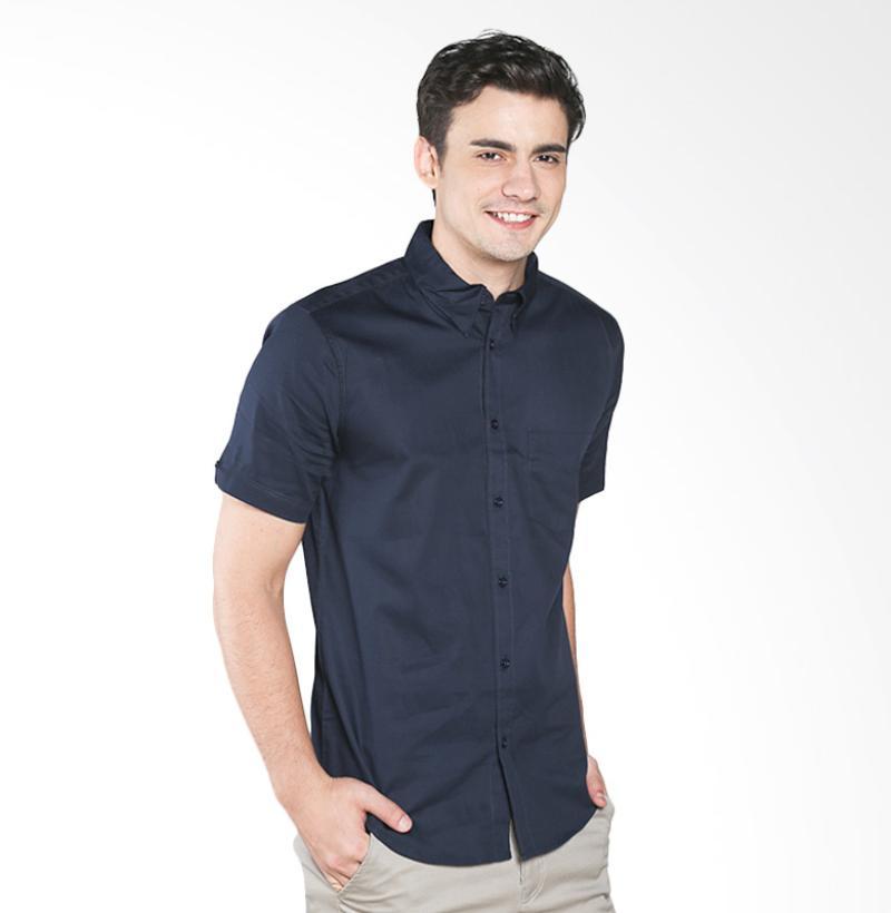A&D MS 516C Fashion Short Sleeve Mens Shirt - Dark Blue
