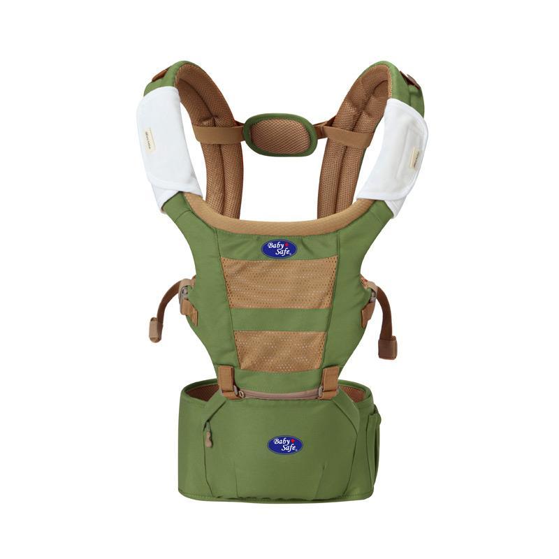 BabySafe Baby Carrier Hip Seat  Gendongan Bayi P12BC005 - Green