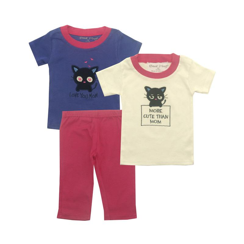 BearhugSet for Baby Girl Cat More Cute Than Mom Pakaian Anak [3 pcs]