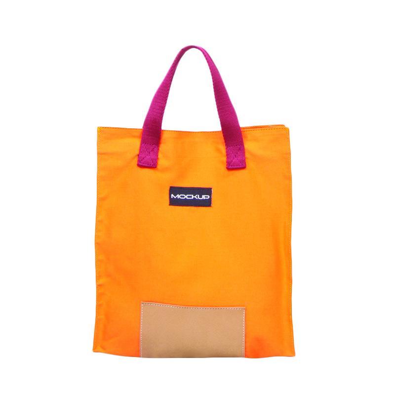 Mini Tote Bag Mockup BGO.12-Tas Unisex-Orange & Maroon
