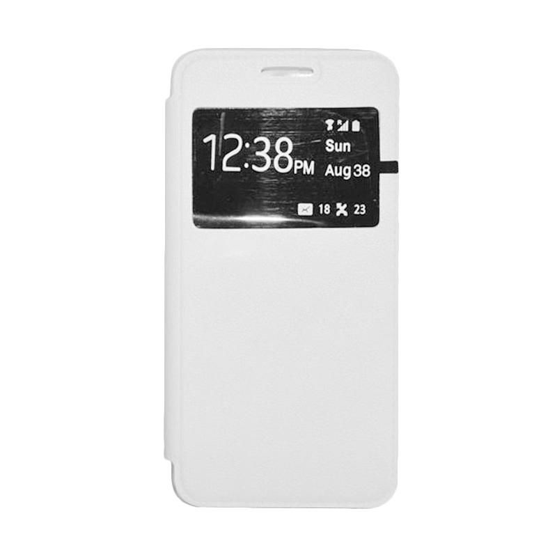 OEM Book Cover Leather Casing for Sony Xperia Z2 - White